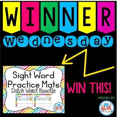 Winner Wednesday: Sight Word Practice Mat Bundle