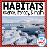 Engage your class in an exciting hands-on experience learning habitats for six different habitats! This unit is perfect for centers in Kindergarten, First Grade, and Second Grade classrooms and packed full of inviting student activities.  Students will learn about animal habitats in the Arctic, Pond, Rain Forest, Desert, Ocean, and Grasslands habitats. This pack is great for homeschoolers, kids craft activities, and to add to your unit studies!  Teachers will receive the complete Power Point unit for science, math, and literacy activities to help teach habitats to your lower elementary students including printable worksheets!