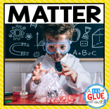 Engage science students in this exciting matter science unit! Perfect for science lessons in Preschool, Kindergarten, First Grade, and Second Grade.   Science teachers receive two weeks of science lesson plans for a fun and interactive experience learning about the states of matter. Matter lesson plans include shape, size, texture, mass, and color vocabulary words, activity, and notebook worksheet. Great for science homeschool too!