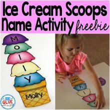 Name Activity with Ice Cream