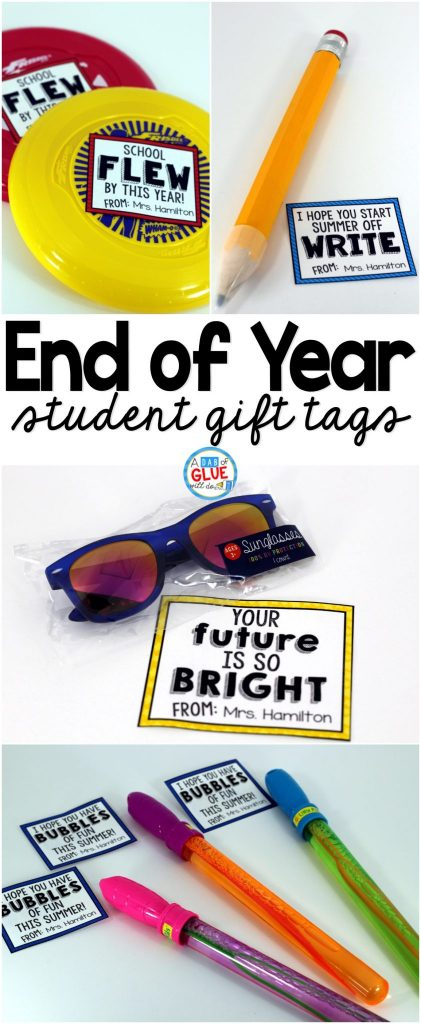 These end of your gifts and free printables are perfect for students.