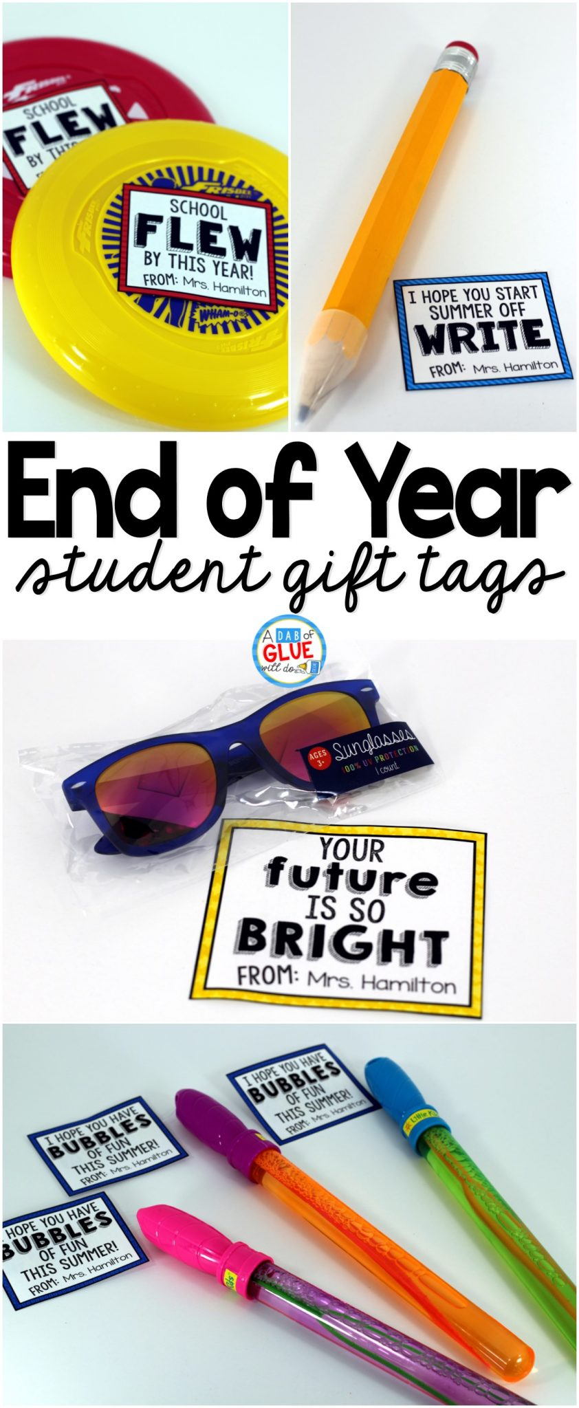 End of Year Gifts for Students & Student Gift Tag Printable