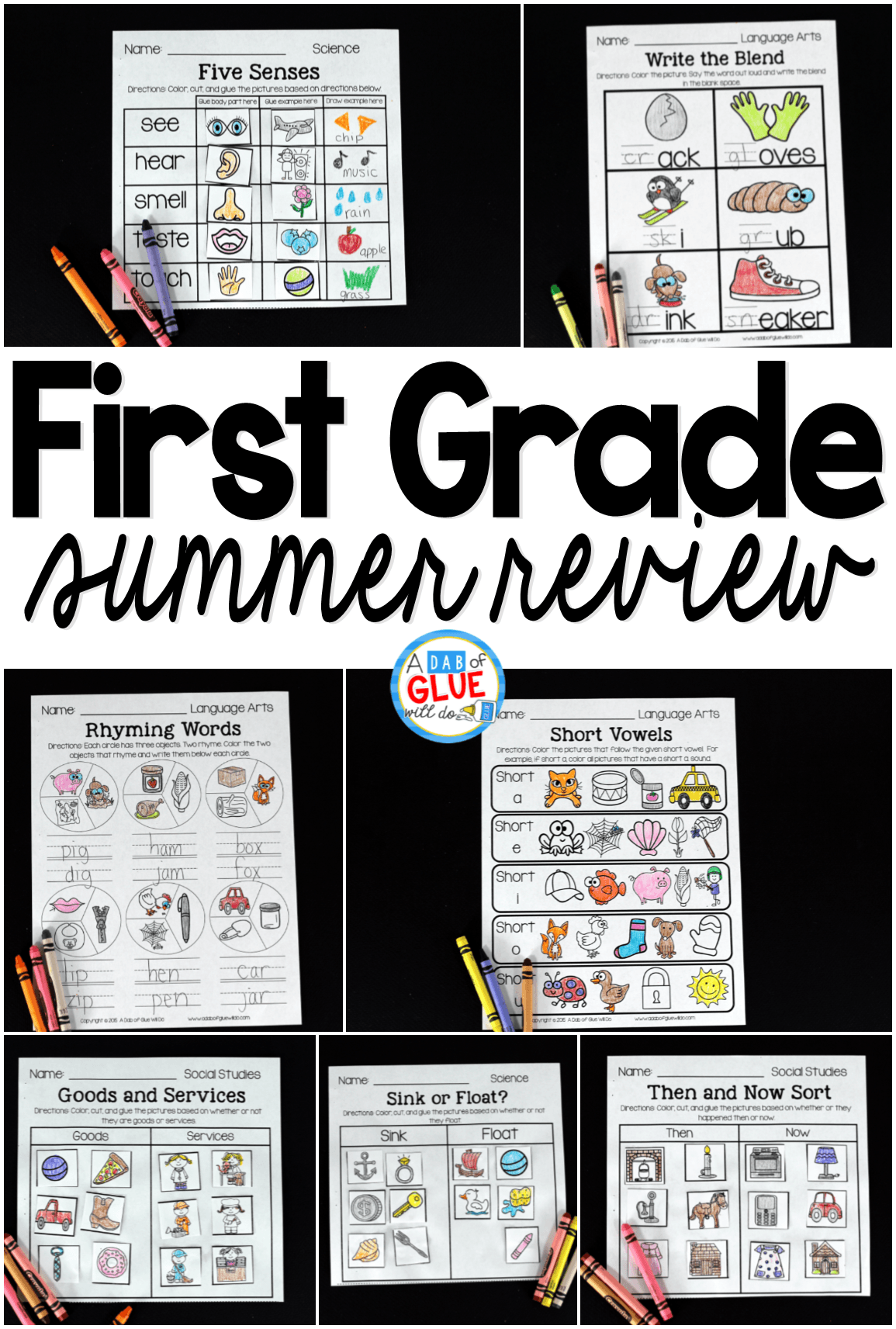 This product is perfect for students going into Second Grade to help prevent the summer slide. Simply print, staple, and send home with your students. There are 46 pages of language arts, 24 pages of math activities, 16 pages of science, and 6 pages of social studies.