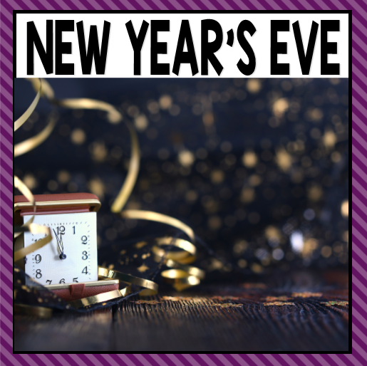 There are so many different New Year's Eve activities that you can do at home or in the classroom. This page allows you to quickly see our favoriteNew Year's Eve ideas, activities and printables that have been featured on A Dab of Glue Will Do.