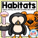 Engage your class in an exciting hands-on experience learning habitats for six different habitats! This unit is perfect for centers in Kindergarten, First Grade, and Second Grade classrooms and packed full of inviting student activities.  Students will learn about animal habitats in the Arctic, Pond, Rain Forest, Desert, Ocean, and Grasslands habitats. This pack is great for homeschoolers, kids craft activities, and to add to your unit studies!