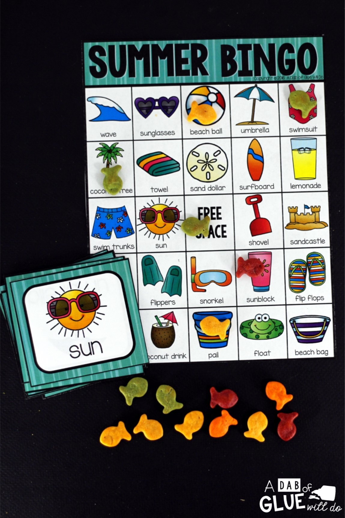 Play Bingo with your elementary age students for a fun summer themed game! Perfect for large groups in your classroom or small review groups. Add this to your summer party with 30 unique summer Bingo boards or end of year celebration with your students! Teaching cards are also included in this fun game for young children! Black and white options available to save your color ink.