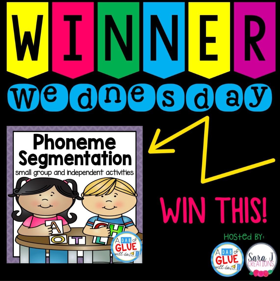 Winner Wednesday: Phoneme Segmentation