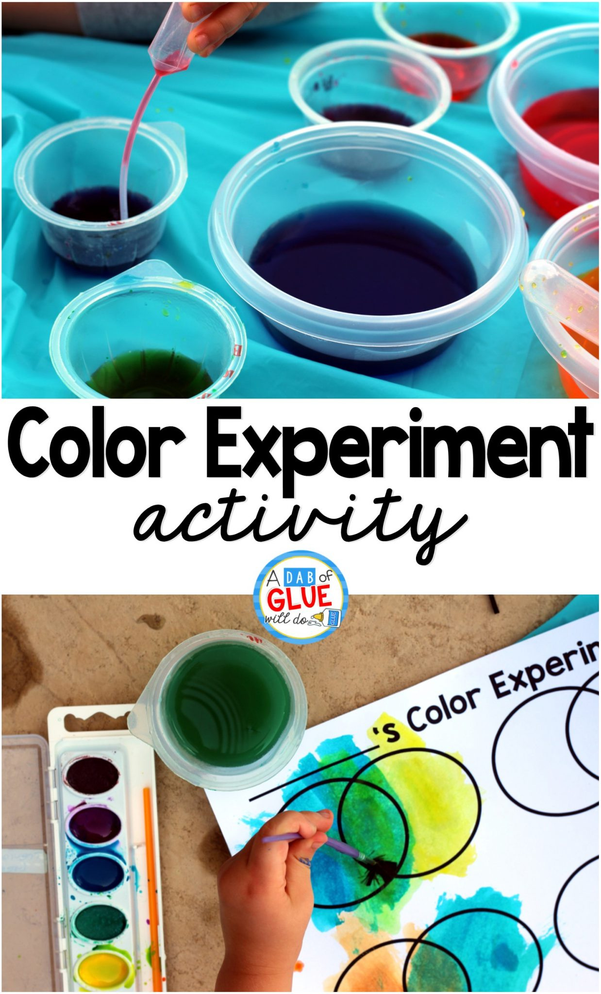Kids learn best through doing so I always enjoy this hands-on color experiment to help introduce, review, or further their knowledge of colors. What I love about this activity is that it is great for a variety of ages. Preschoolers will find it fascinating and kindergarten and first graders will be just as equally enthralled.