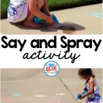 Any activity that allows someone to use spray bottle is a great activity according to my daughter. So, obviously, Say and Spray was a HUGE hit at our house and I have no doubt it would be a huge hit at your home or in your classroom.