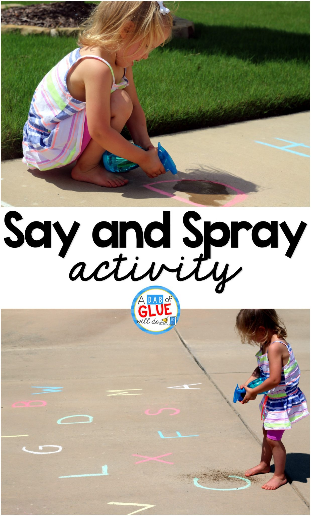 Kids Alphabet Say and Spray Activity
