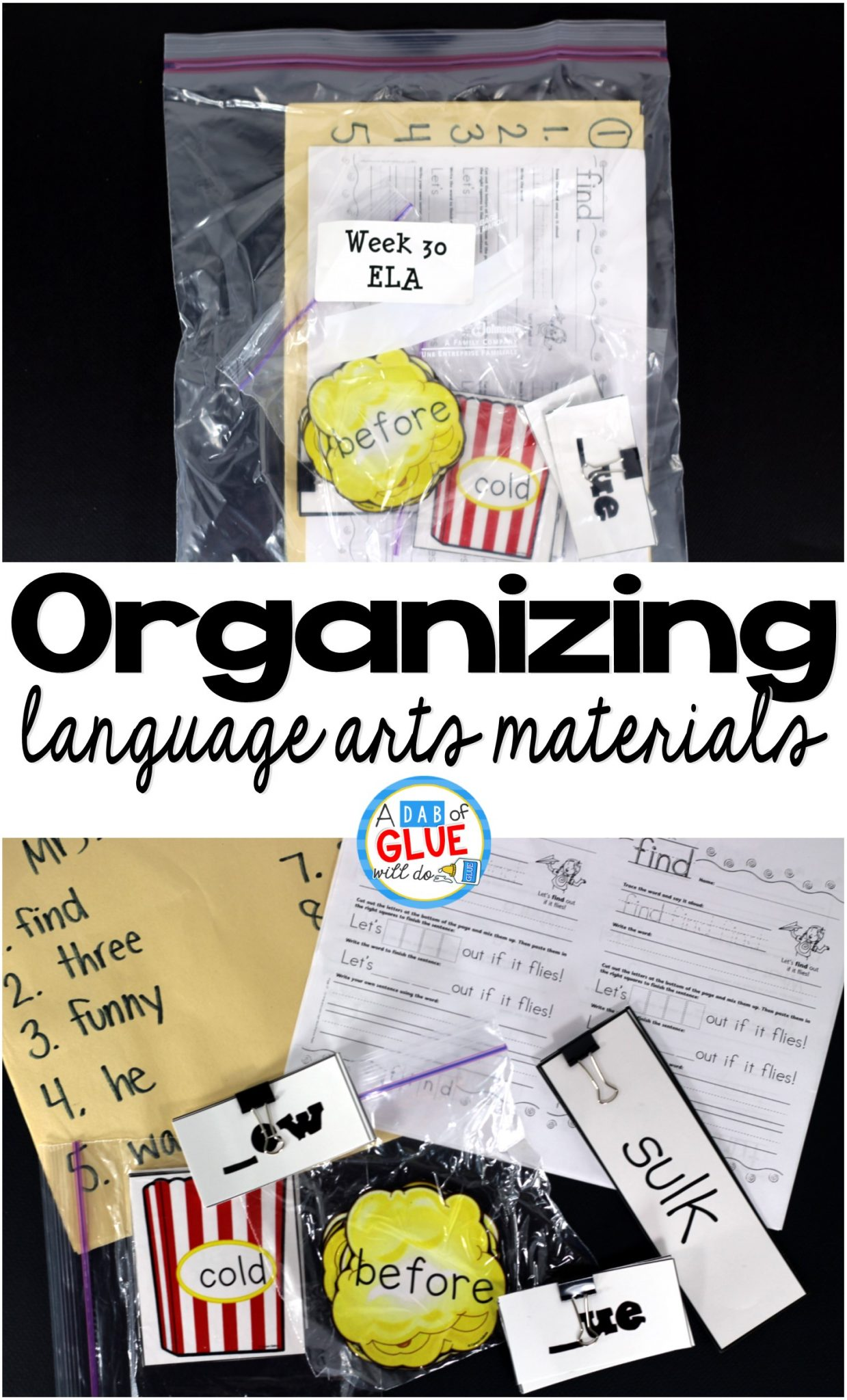 How to Organize Language Arts Materials