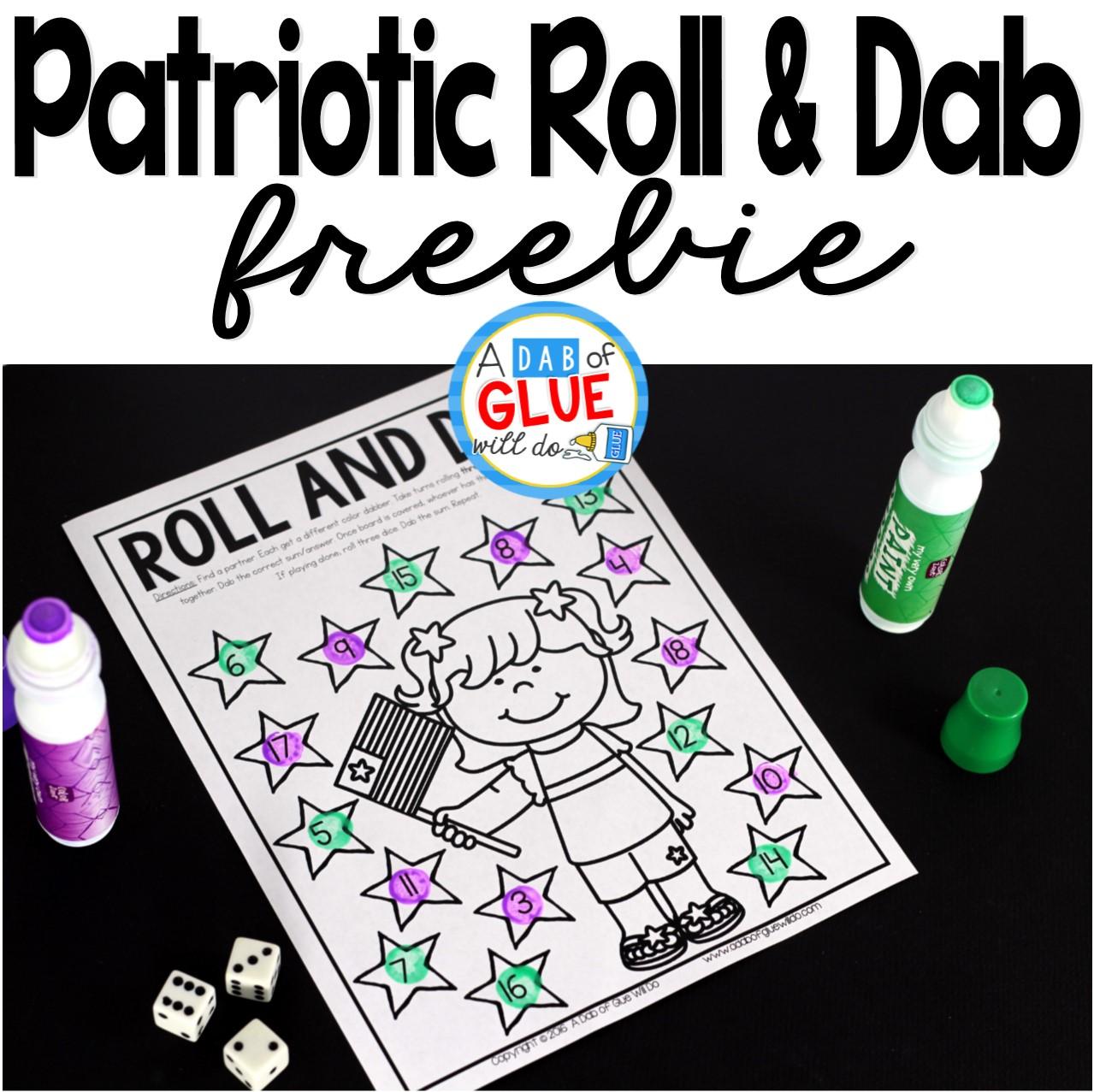 Patriotic Roll and Dab Freebie