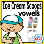Ice Cream Scoops: Vowels is a fun and interactive literacy center to help students review long and short vowels. Students will sort ice cream cones by long and short vowels and then complete worksheet.