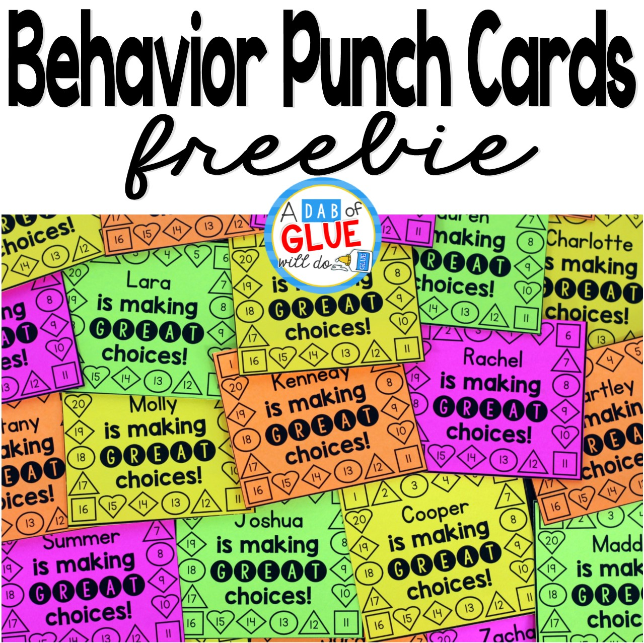 Behavior punch cards for classroom management for What does punch out mean in construction