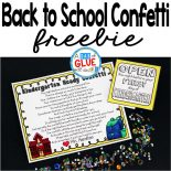 I always found giving kids this special little gift, the Back to School Confetti, to open the night before the first day of school helps to ease their minds and hearts for the anticipation of the BIG first day can make a world of a difference. Every single year, I get parents emailing, calling, or telling me in person how this simple little gift made the world of a difference and to me, that makes it all worth it.