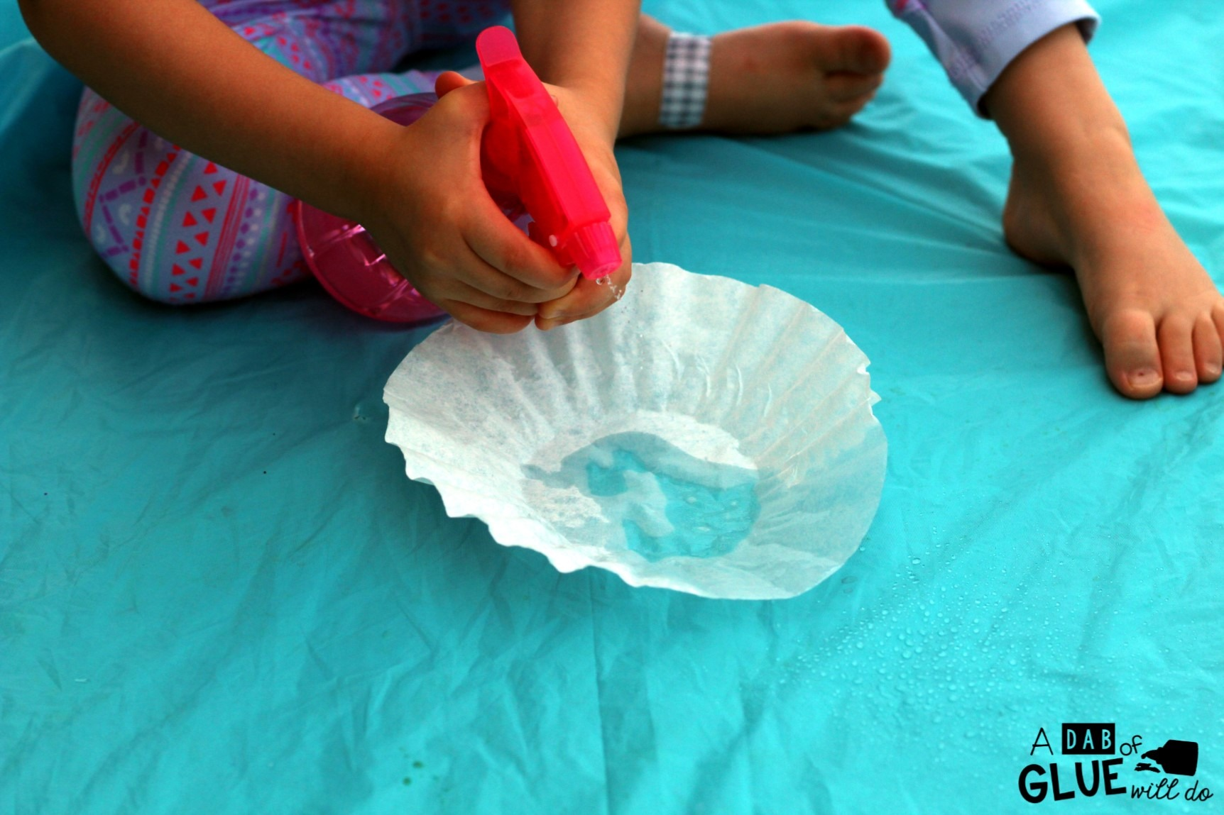Coffee Filter Color Painting is a great way to practice colors in a fun and hands-on way.