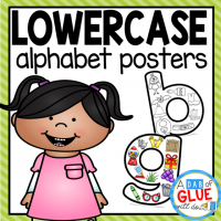 Your preschoolers are going to LOVE Lowercase Alphabet Picture Posters! These posters are a great addition to help your students better learn their lowercase letters. Use in your Preschool, Kindergarten, and First Grade classrooms.  This pack includes 26 posters that each contain a letter and several pictures that start with the given letter. There is a color version and black and white version.