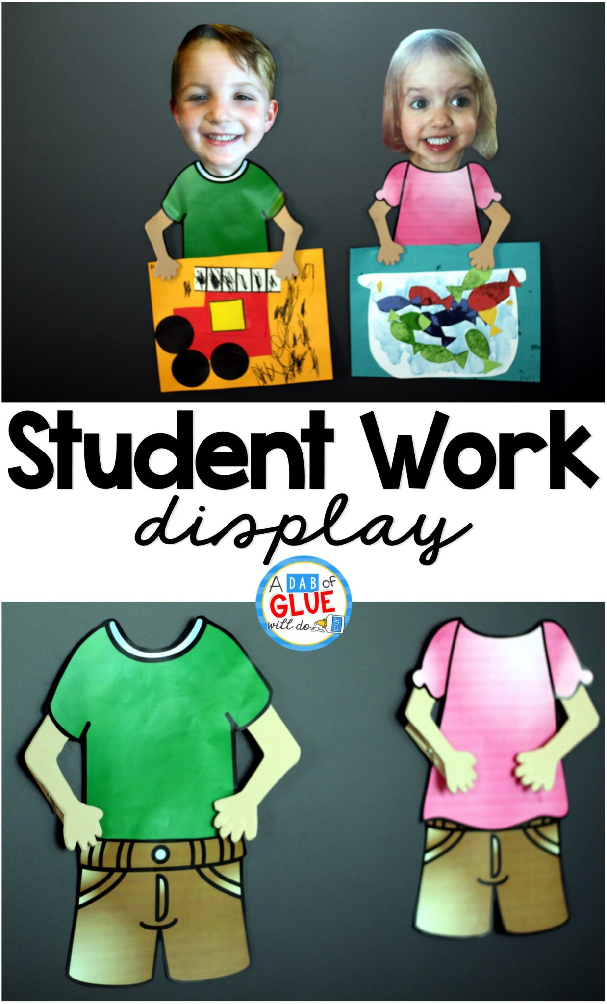 It can be difficult trying to figure out how to display student work in cute and creative ways throughout the school year.  If you are having trouble figuring out a fun and easy way to display student work, then this post is for YOU!