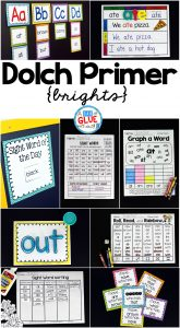 Engage your class in Dolch Primer {Brights} sight word activities, literacy centers, and word wall! This unit is perfect for literacy centers in Kindergarten, First Grade, and Second Grade classrooms and packed full of inviting student activities. Students will learn using their favorite alphabet games, Play Doh word mats, Tic-Tac-Toe, and more! This pack is great for homeschoolers with a student assessment included!