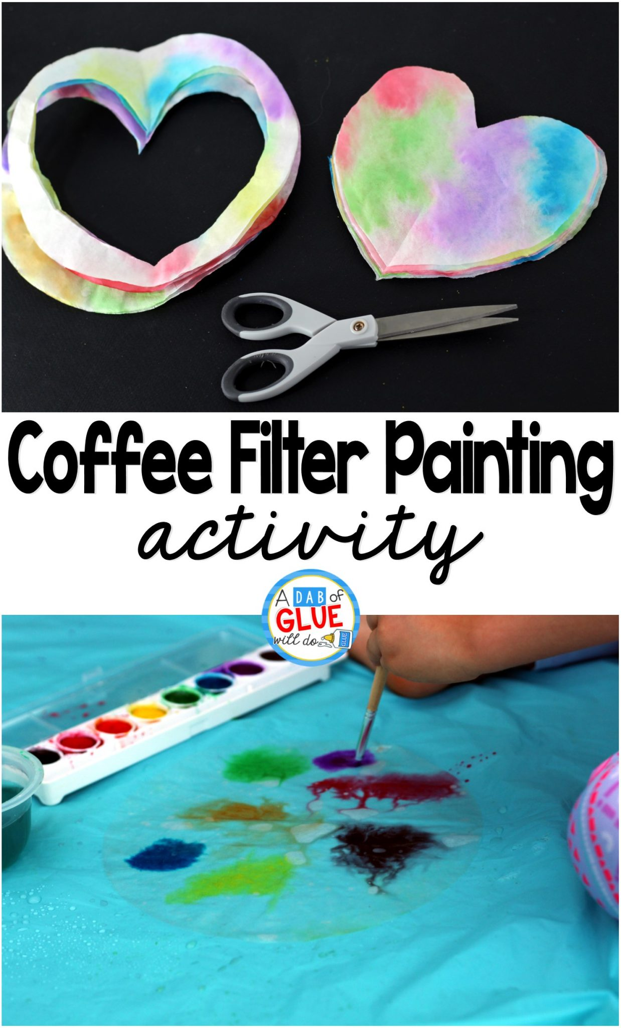 Coffee Filter Color Painting