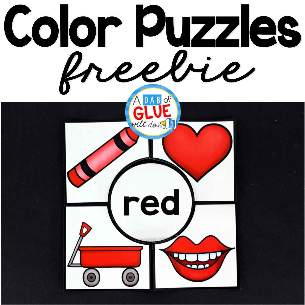 Color Puzzles - A Dab of Glue Will Do