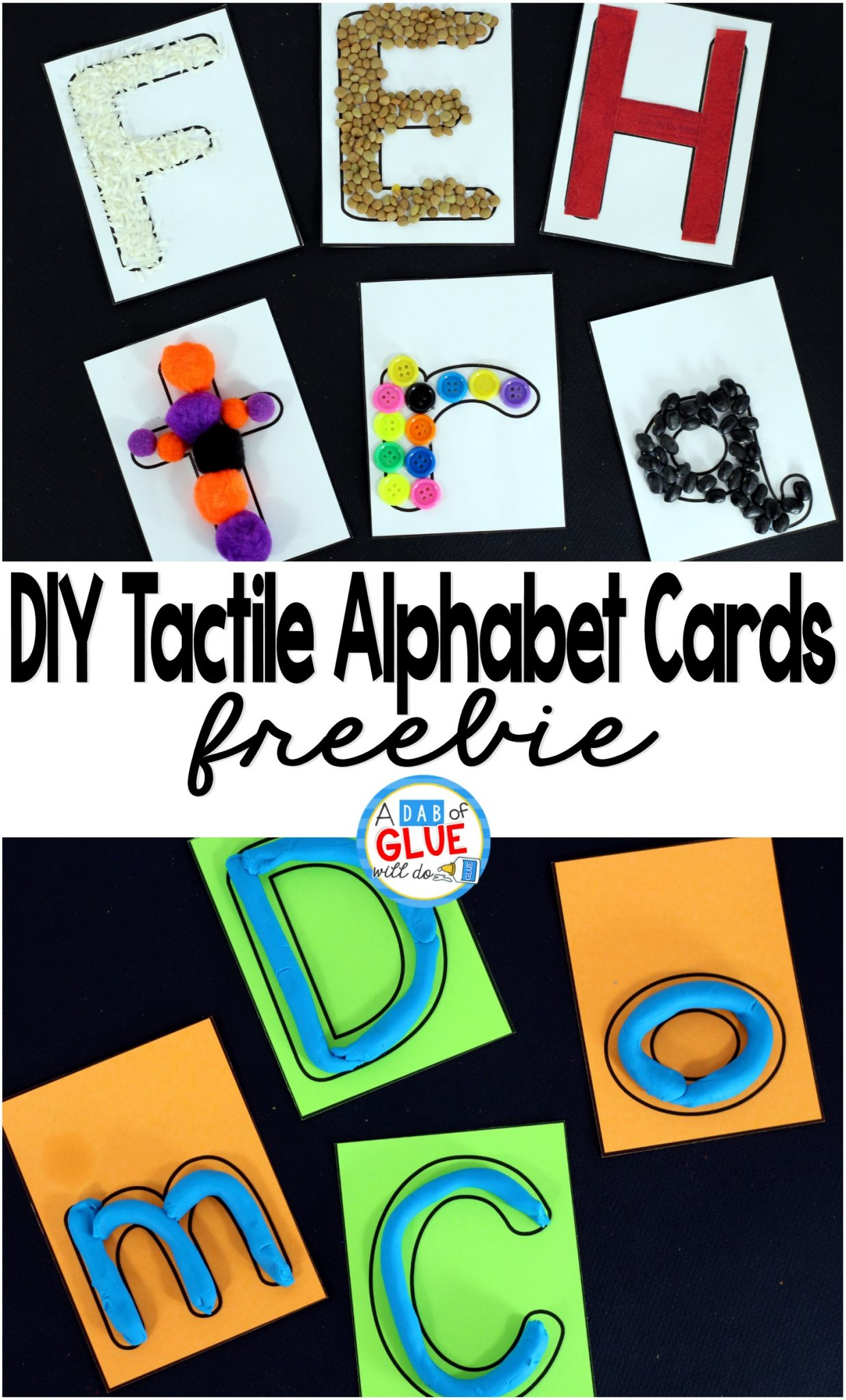 DIY Tactile Alphabet Cards