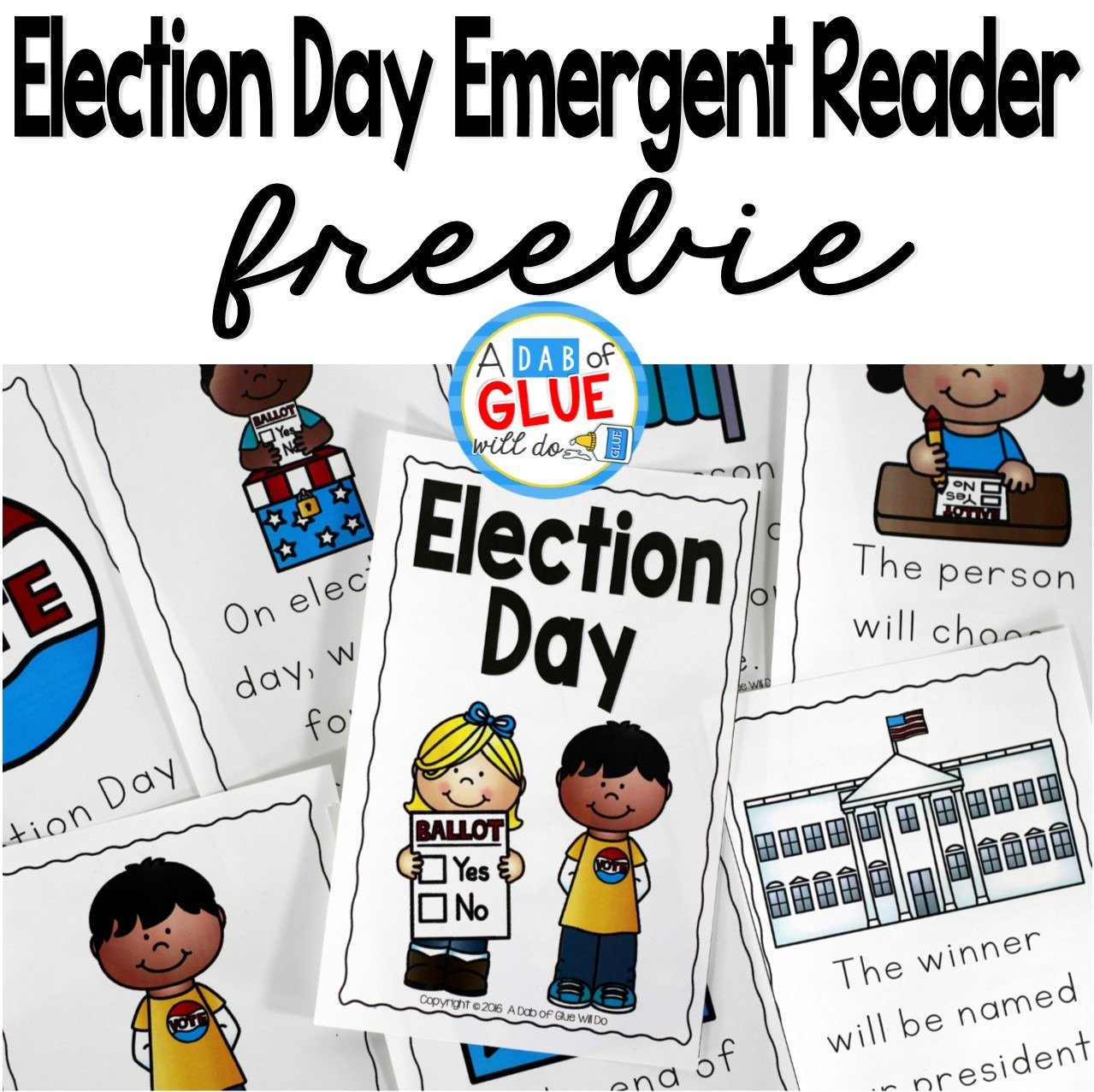 The Presidential Election will be here before we know it . Since this is a very important event for the United States that only happens every four years, it is important to discuss and educate even the littlest of learners. I always love combining social studies with literacy so I created an Election Day Emergent Reader and Ballot activity.