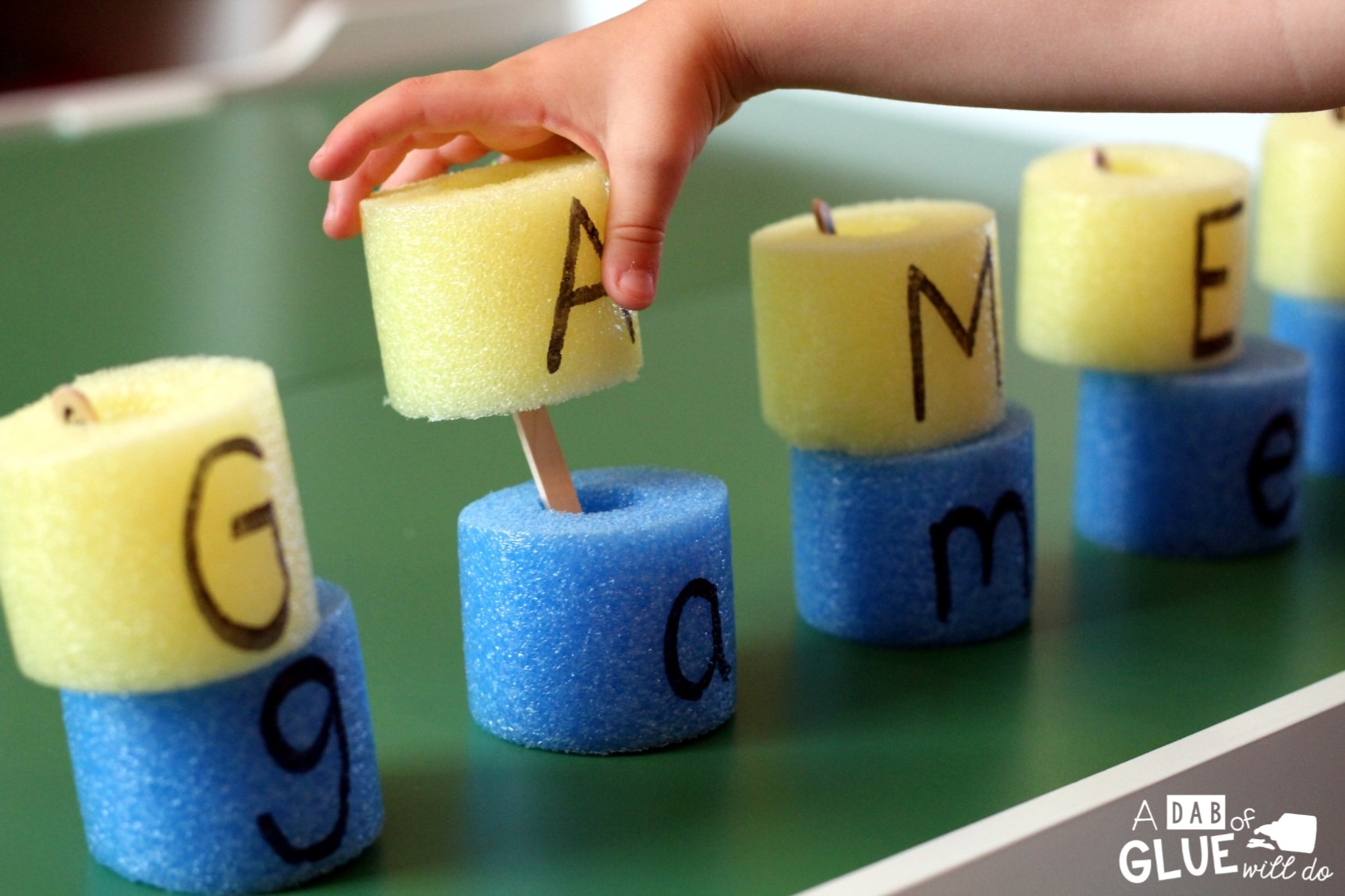 Pool Noodle Alphabet Match A Dab of Glue Will Do