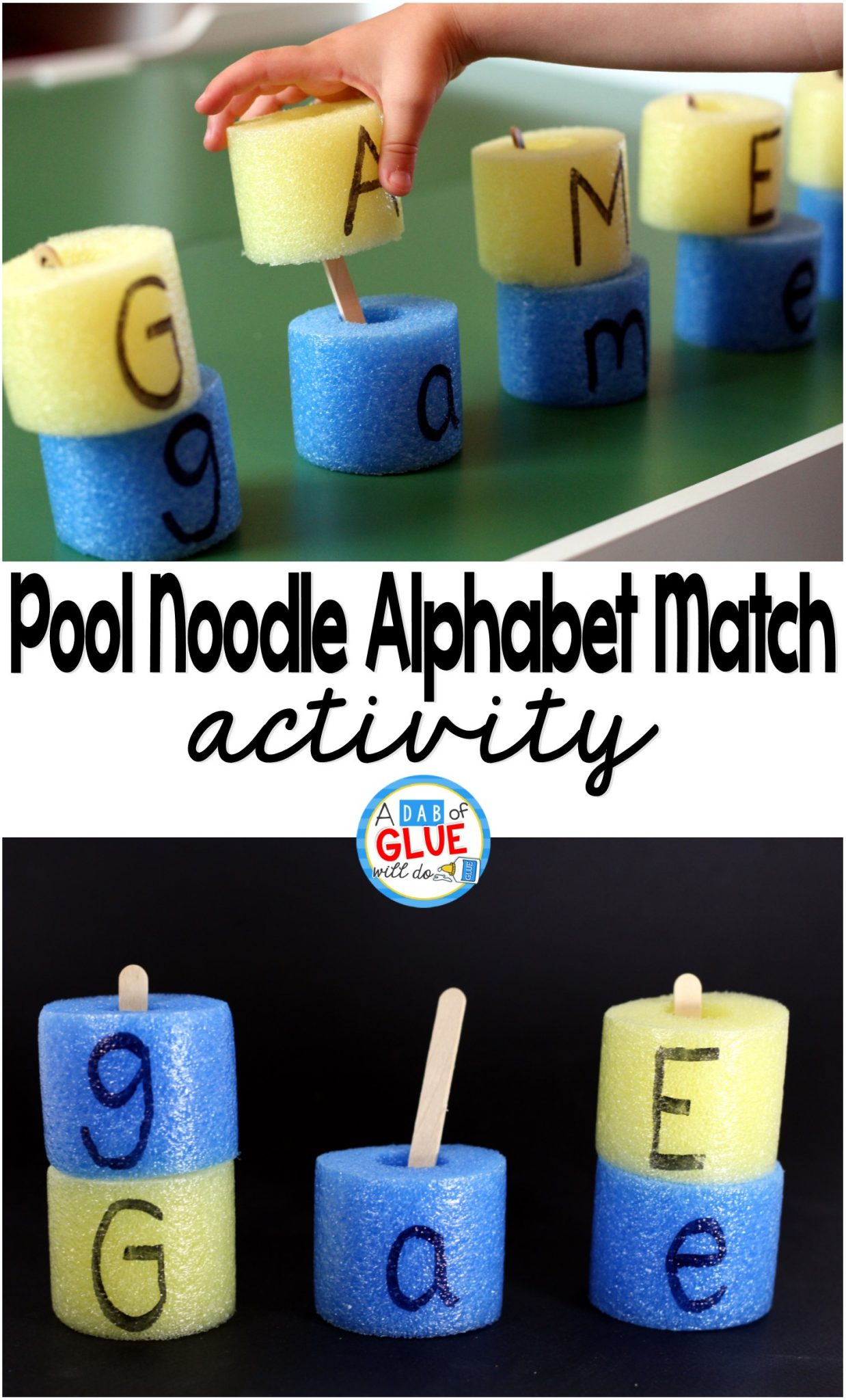Pool Noodle Alphabet Match