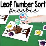 This Leaf Number Sort is the perfect activity to combine math, fun, fall, and leaves all into a no-prep center for preschool and kindergarten students. Download this printable today.