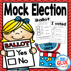 The Presidential Election will be here before we know it. Since this is an event that only happens every four years, it is so important to introduce the concept to even the littlest of learners. This can easily be done by having a mock election in the classroom. My students always loved when we did this on election day and it helps teach the importance of voting a young age.