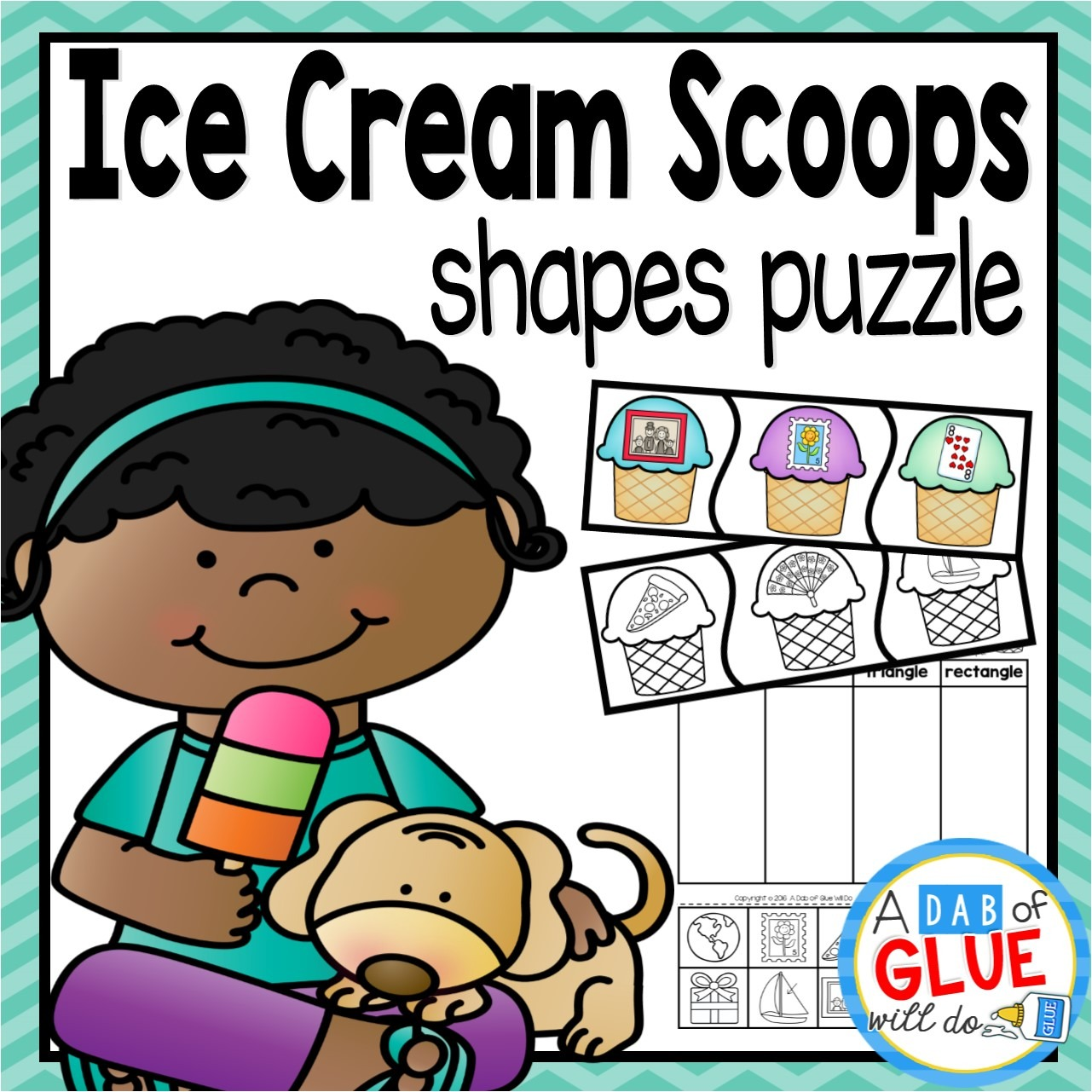 Make learning shapes fun with this Ice Cream Scoops themed shapes set that is perfect for your elementary aged children. Use these fun math summer themed worksheets to teach your Preschool, Kindergarten, and First Grade students phonics with fun shapes games and interactive shapes centers. All centers come with a color AND black and white option.