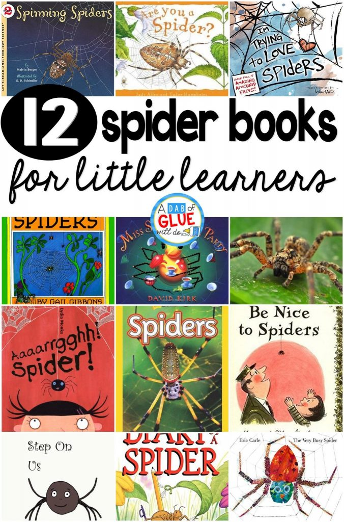 Our 12 favorite spider books are perfect for your Halloween or fall lesson plans. These are great for preschool, kindergarten, or first grade students.