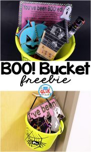 Boo! Bucket is the perfect way to start the Holiday season. Spread Halloween cheer among the faculty and staff at your school