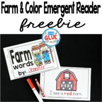Farm and Color Emergent Reader is perfect way to teach students about farm and color words. This free printable is perfect for preschool, kindergarten, and even first grade. It is a great addition to a farm theme or unit.