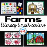 Engage your class in an exciting hands-on experience learning more about the apple! This Farm Literacy and Math Centers resource is perfect for language arts and math centers in preschool, pre-K, Kindergarten, and First Grade classrooms and packed full of inviting student activities. Celebrate fall or spring with farm themed center student worksheets.  Students will learn more about farms using puzzles, worksheets, clip cards, and number mats. This pack is great for homeschoolers, hands-on kids activities, and to add to your unit studies!  Teachers will receive the complete unit for farm literacy and math centers to help teach about farms to your lower elementary or preschool students!
