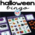 Play Bingo with your elementary age students for a fun Halloween themed game! Perfect for large groups in your classroom or small review groups. Add this to your Halloween party with 30 unique Halloween Bingo boards with your students! Teaching cards are also included in this fun game for young children! Black and white options available to save your color ink.