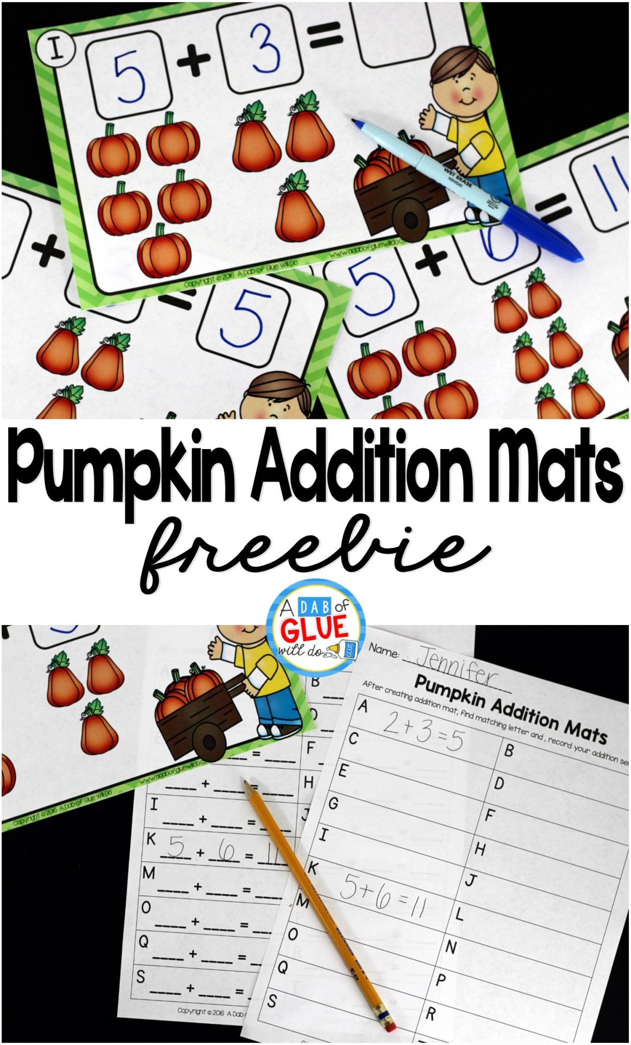 Pumpkin Addition Mats A Dab Of Glue Will Do