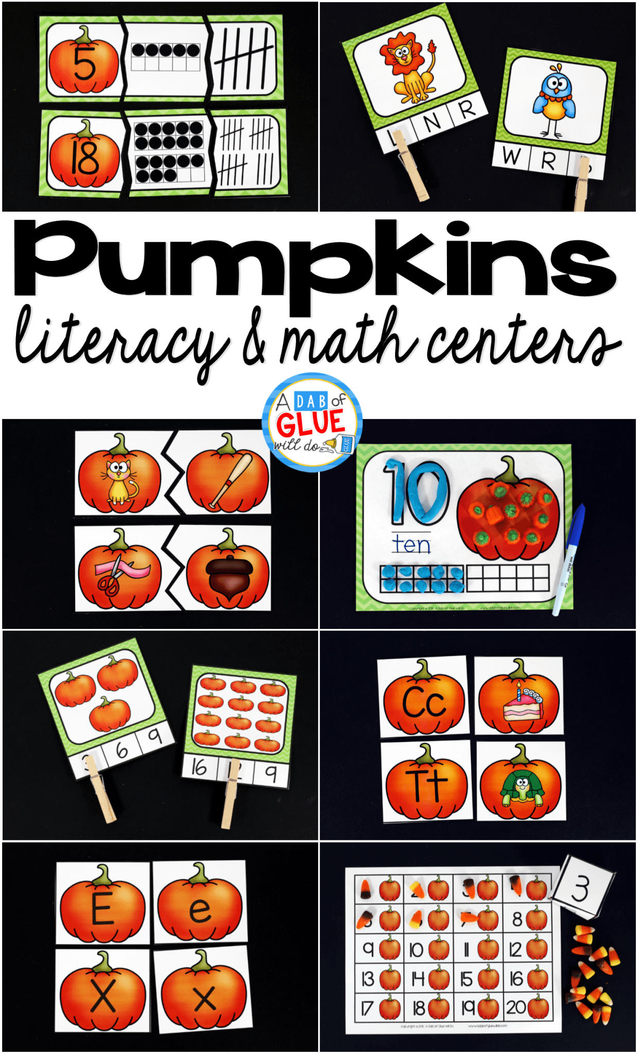 Engage your class in an exciting hands-on experience learning more about pumpkins ! This pack is perfect for language arts and math centers in Preschool, Kindergarten, and First Grade classrooms and packed full of inviting student activities. Celebrate Fall with pumpkin themed center student worksheets. Students will learn more about pumpkins using puzzles, worksheets, clip cards, and subtraction mats. This pack is great for homeschoolers, hands-on kids activities, and to add to your unit studies! Teachers will receive the complete unit for Autumn pumpkin math and literacy activities to help teach the ocean to your lower elementary students!