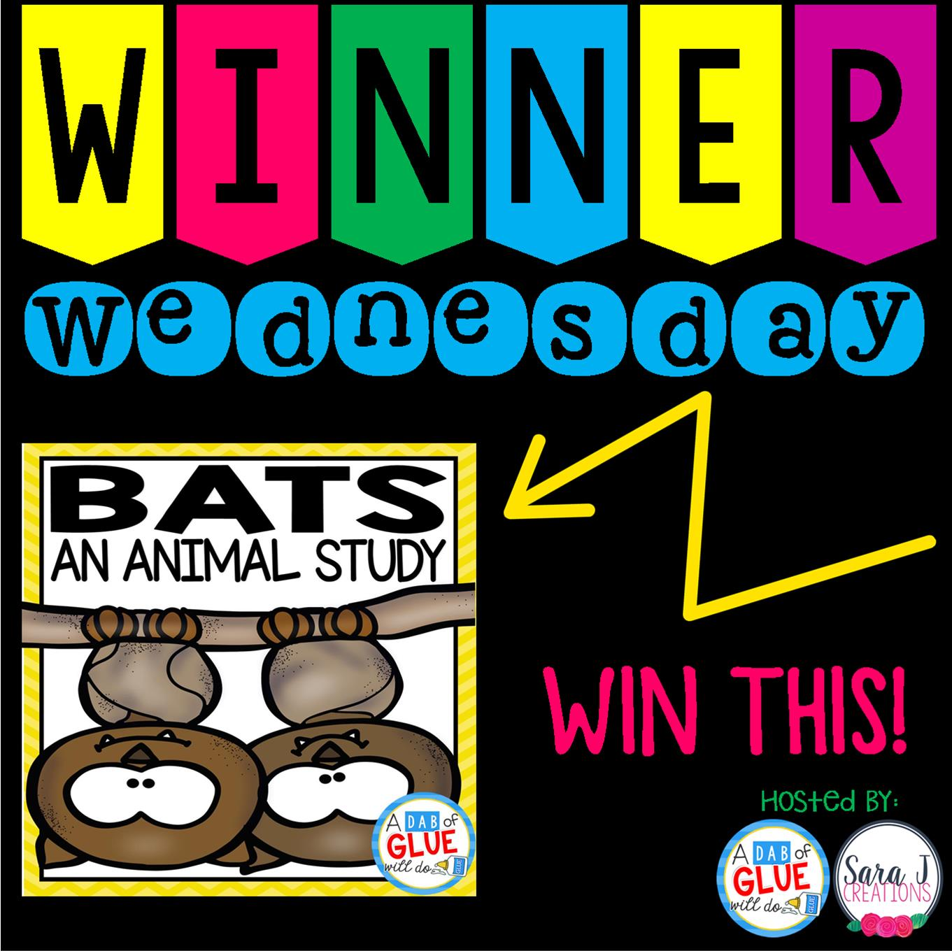 For Winner Wednesday this month I am giving away the Bats: An Animal Study. Before I go into detail about this product, I want to explain what Winner Wednesday is. This linky will take place the first Wednesday of every month. A popular product will be featured from my store including detailed explanation with authentic pictures. All you have to do is enter your name into the Rafflecopter and YOU will have a chance to win that product for FREE!
