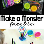 Make a Monster is the perfect candy-free Halloween gift. This activity is great for toddlers, preschoolers, and kindergarten and first grade students.