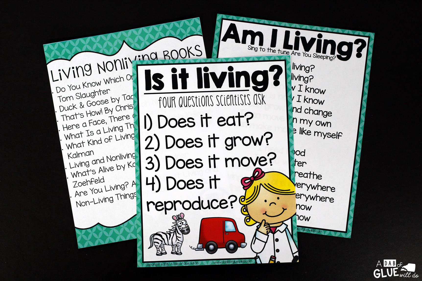 Living Nonliving on Then And Now Worksheets Second Grade