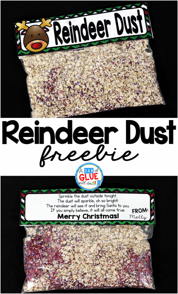 Reindeer Dust is the perfect free printable for your students or your child's friends at school.This fun activity will make their Christmas magical. It is perfect for preschool, kindergarten, and first grade students.