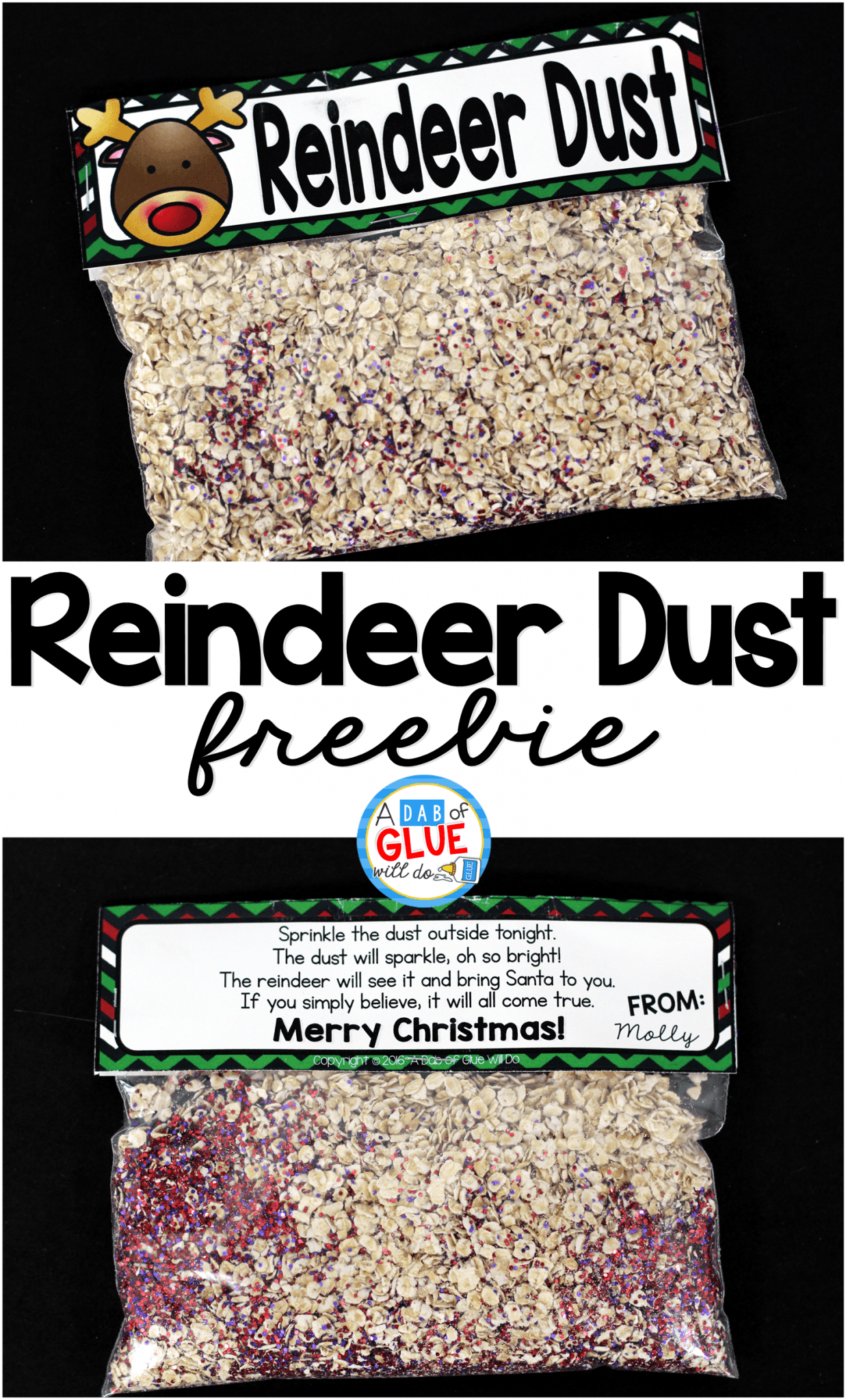 photograph regarding Reindeer Food Poem Printable known as How In direction of Deliver Reindeer Meals - A Dab of Glue Will Do