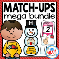Practicing alphabet, initial sounds, middle sounds, ending sounds, blends, digraphs, and numbers has never been so fun! Engage students in learning fun with sound and number match-up learning centers work. This GROWING BUNDLE is perfect for Preschool, Kindergarten, and First Grade classrooms. These match-ups include holiday themed games for your literacy centers and math centers!