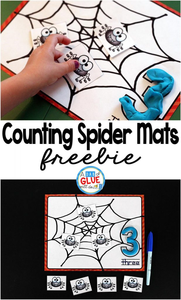 Spider Counting Mats is the perfect free printable to be added toyour math centers. Thisactivity is perfect for preschool and kindergarten students.