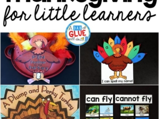 There are so many different Thanksgiving activities that you can do at home or in the classroom. This page allows you to quickly see our favorite Thanksgiving ideas, activities and printables that have been featured on A Dab of Glue Will Do.