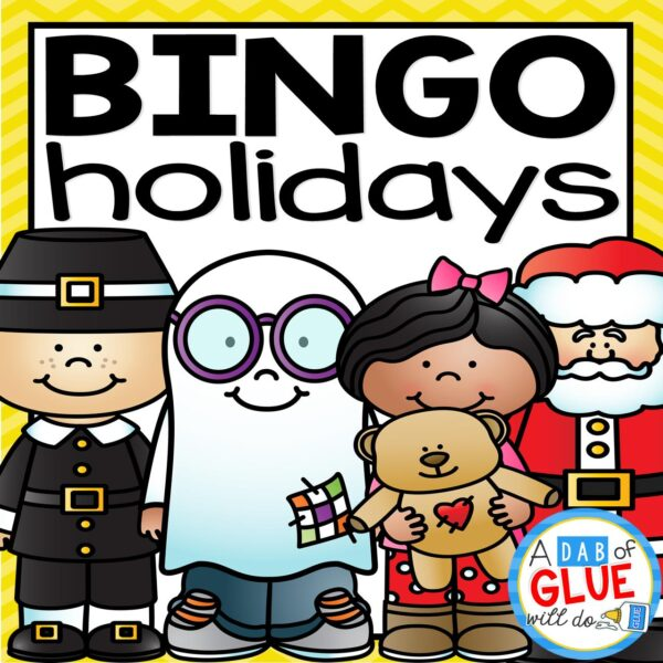 Play Bingo with your elementary age students through the holidays with these fun holiday themed games! Perfect for large groups in your classroom or small review groups. Add these to your lesson plans or class party with 30 unique Halloween, Thanksgiving, Christmas, Valentine's Day, St. Patrick's Day and Easter boards! Teaching cards are also included in this fun game for young children! Color and black and white options available to save your color ink.