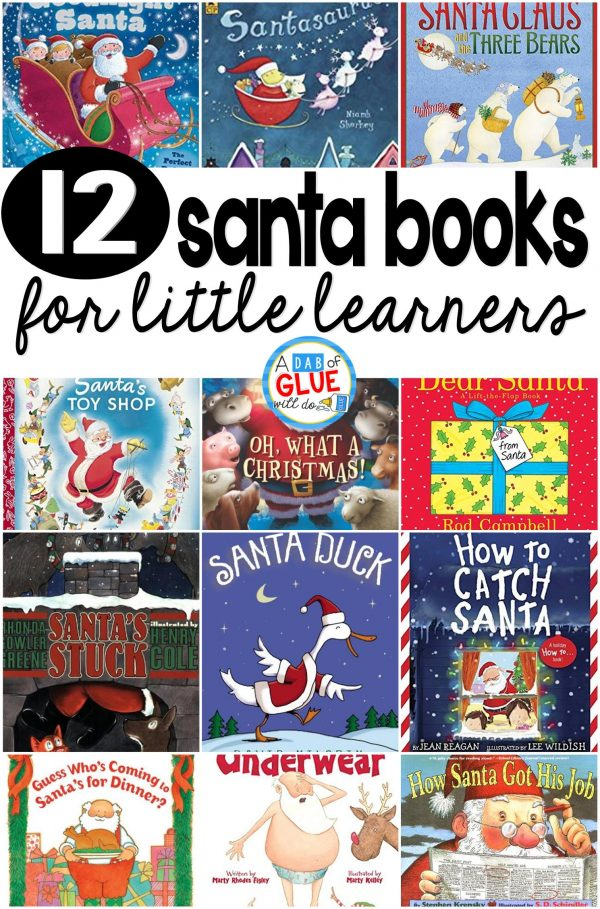 Our 12 favorite santa books are perfect for your holiday or Christmas lesson plans or at home with your children. These are great for preschool, kindergarten, or first grade students.