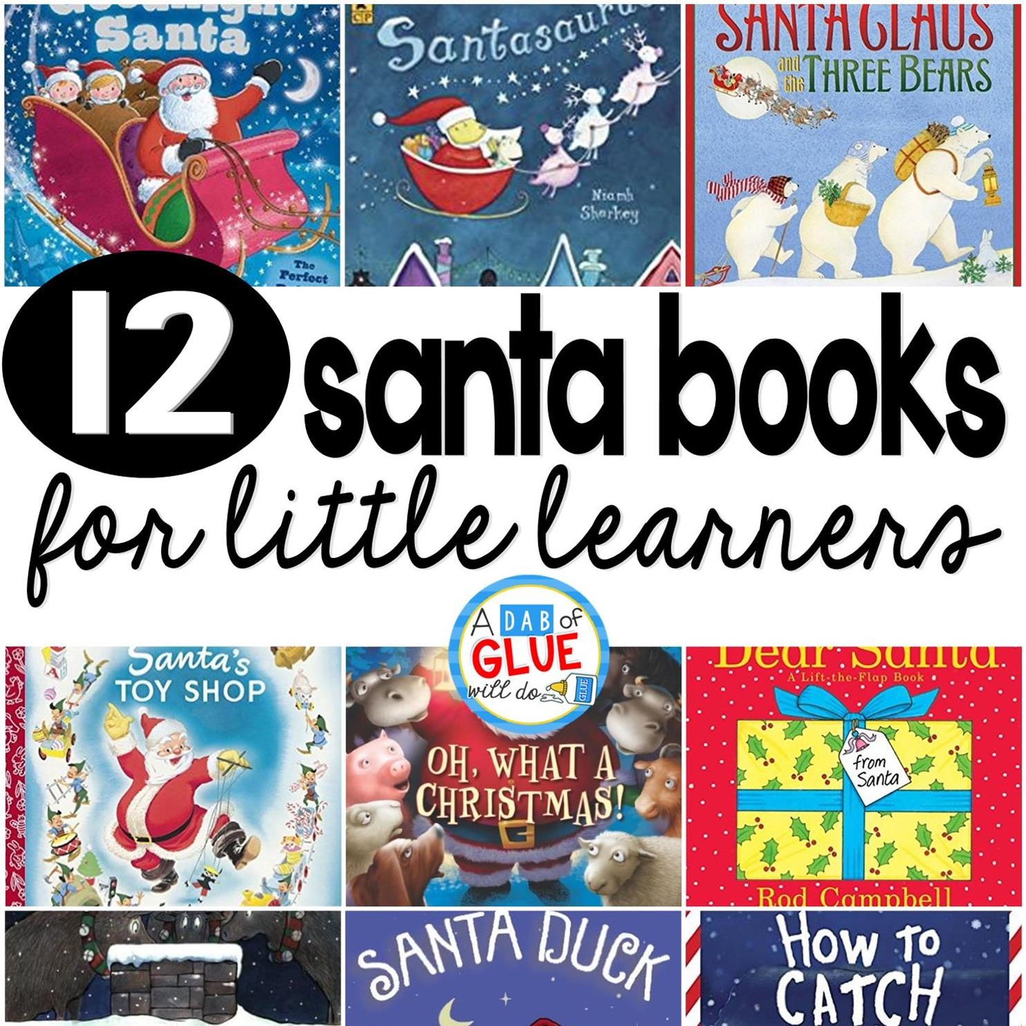 12 Santa Books for Little Learners